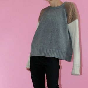 J. CREW COLLECTION Tricolor 100% Cashmere Sweater